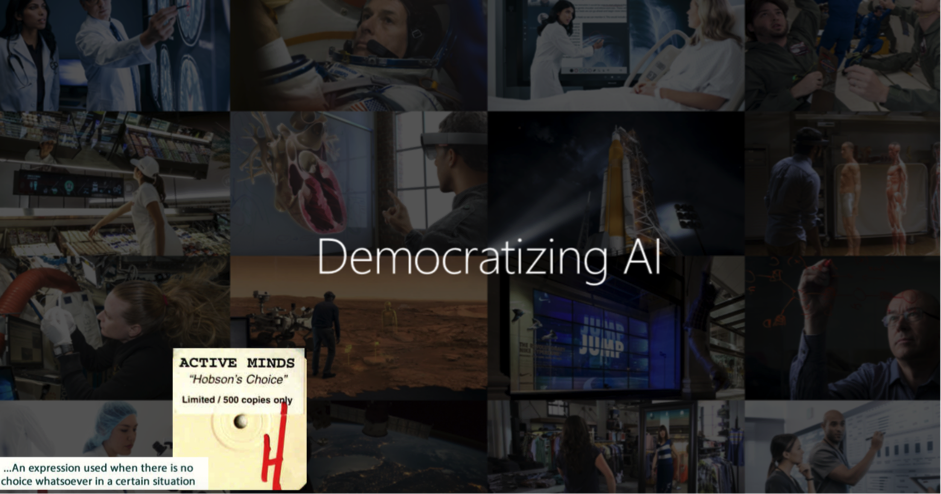 Democratizing AI - Build versus Buy for AIML is not Hobson's Choice