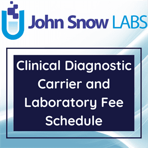 Clinical Diagnostic Carrier and Laboratory Fee Schedule