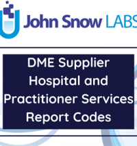 DME Supplier Hospital and Practitioner Services Report Codes