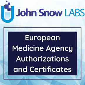 European Medicine Agency Authorizations and Certificates Data Package