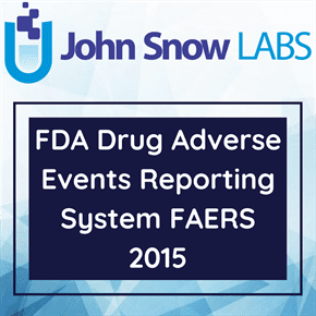 FDA Drug Adverse Events Reporting System FAERS 2015