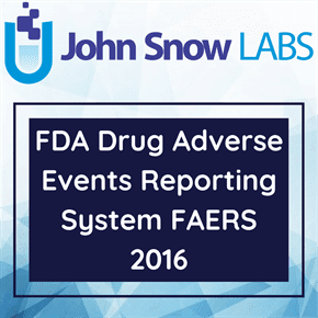 FDA Drug Adverse Events Reporting System FAERS 2016