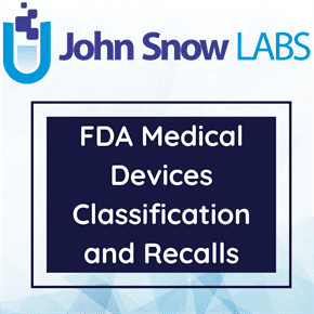FDA Medical Devices Classification and Recalls Data Package