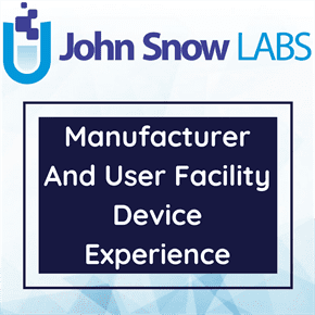 Manufacturer And User Facility Device Experience Data Package