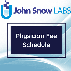 Physician Fee Schedule Data Package