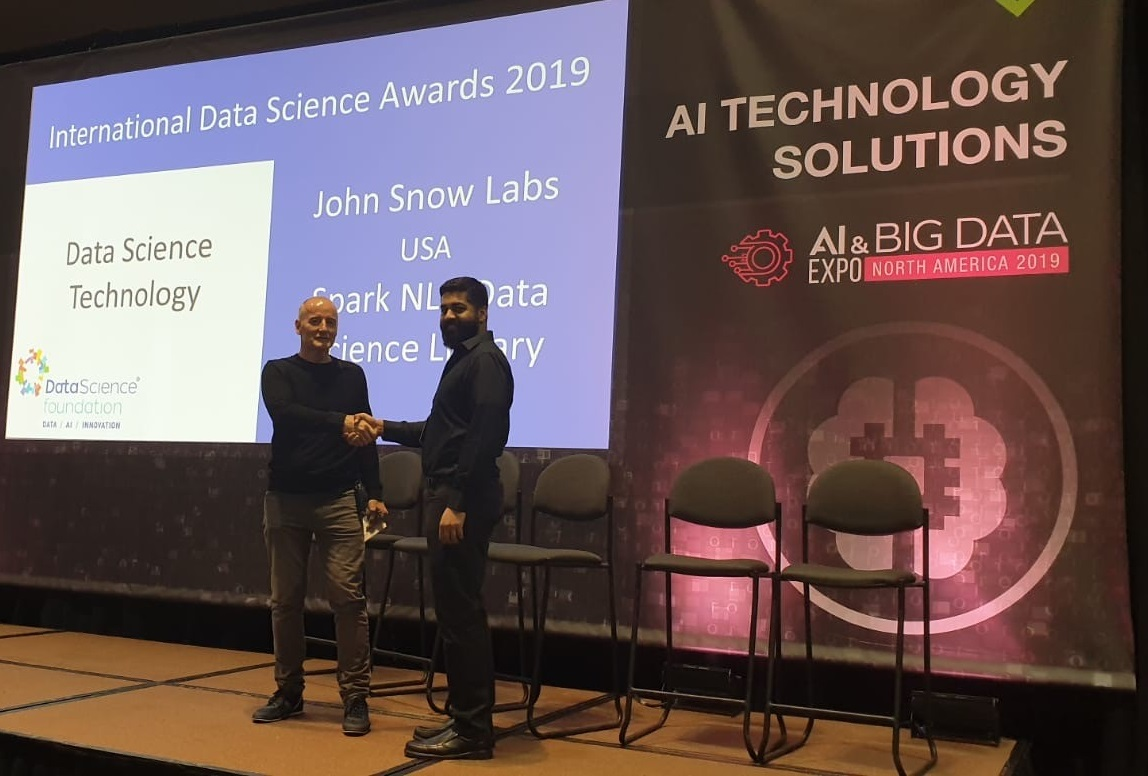 John Snow Labs wins the 2019 International Data Science Technology Award