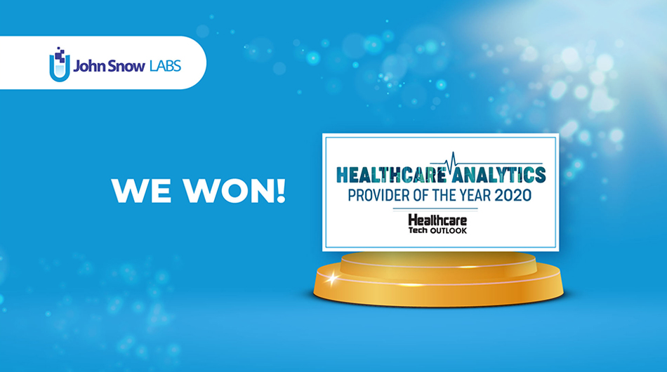 John Snow Labs is Healthcare Tech Outlook's 2020 Healthcare Analytics Provider of the Year